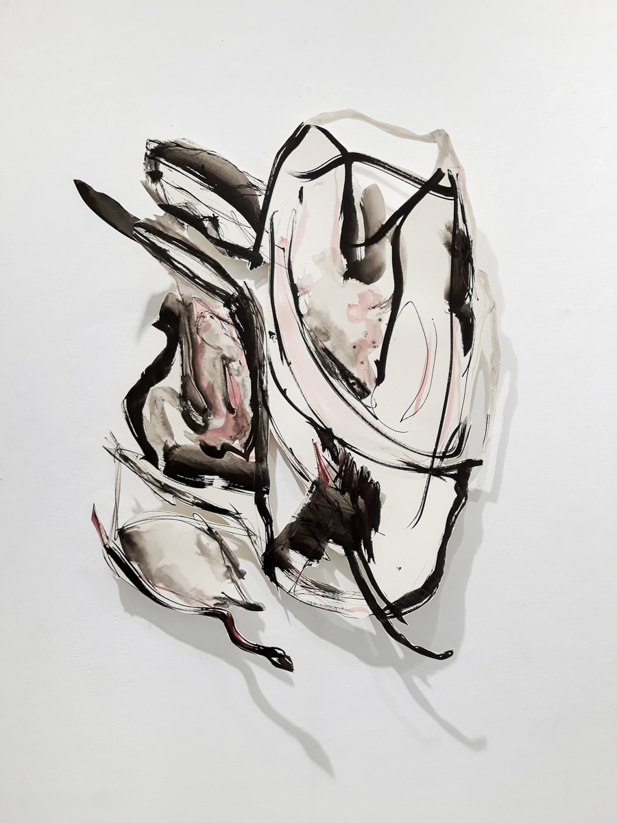 Carien Engelhard, Papiersnede Serie Acanthus V-II (met schaduw) 70 x 100 cm 2017